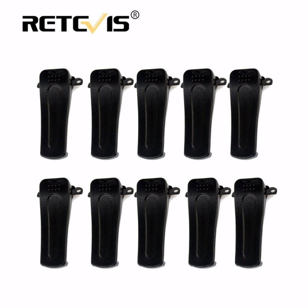 10pcs Original Retevis H777 Belt Clip For Baofeng BF-888S BF-666S BF-777S Retevis H-777 Walkie Talkie Accessories J9104T