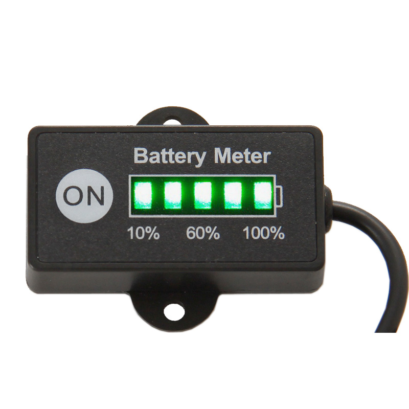 free shipping led 5 bar display mini battery meter battery indicator 12 24v for motorcycle golf. Black Bedroom Furniture Sets. Home Design Ideas