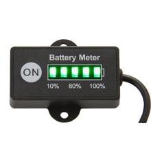 Светодио дный 5 бар Дисплей мини Батарея метр Батарея индикатор 12/24 В для свинцово-кислотный Батарея мотоциклетные Гольф тележки Тесты напряжения