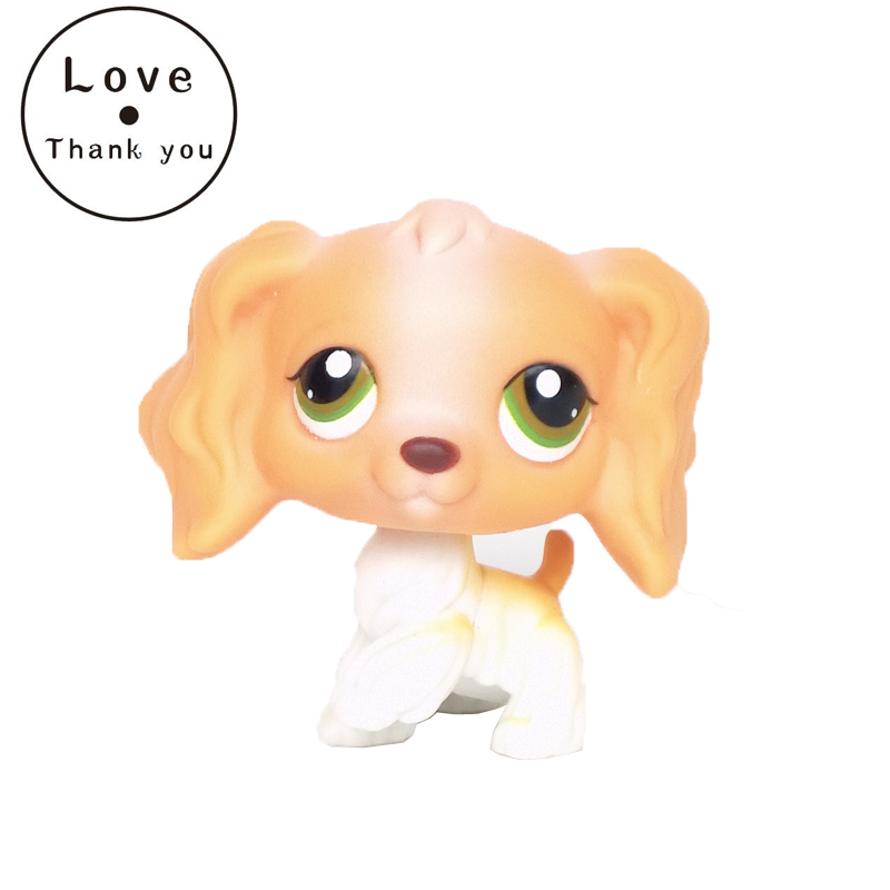 Pet Shop Puppy Brown Tan Long Hair Ear Cocker Dog Loose Figure Toy free shipping bacon style pet dog squeaky toy brown