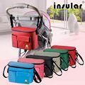 Insular bolsas para cochecito de bebé bolsa de mamá bolsa de pañales organizador bolsa bolsa maternidade pañal impermeable bolsas de cochecito de niño recipiente interior