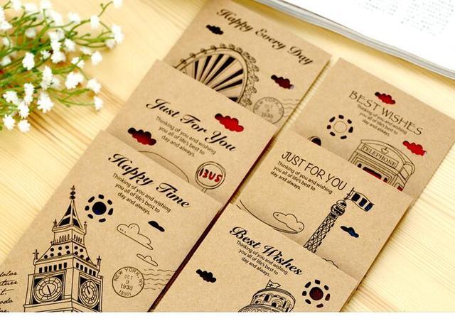 36pcs kraft paper greeting card shop gift hang tag festival 36pcs kraft paper greeting card shop gift hang tag festival decoration best wishes travel gift say m4hsunfo