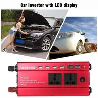 newPortable 1200W Power Car Vehicle Inverter with LCD Display 12V To 220V Automotive Converter Power Supply with 4 USB Ports