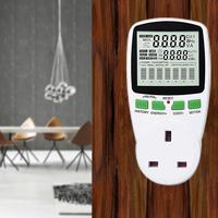 US/UK/EU Plug Chart Power Measuring Socket Indoor Countdown Timer 1 Outlet Grounded With Button Battery J3