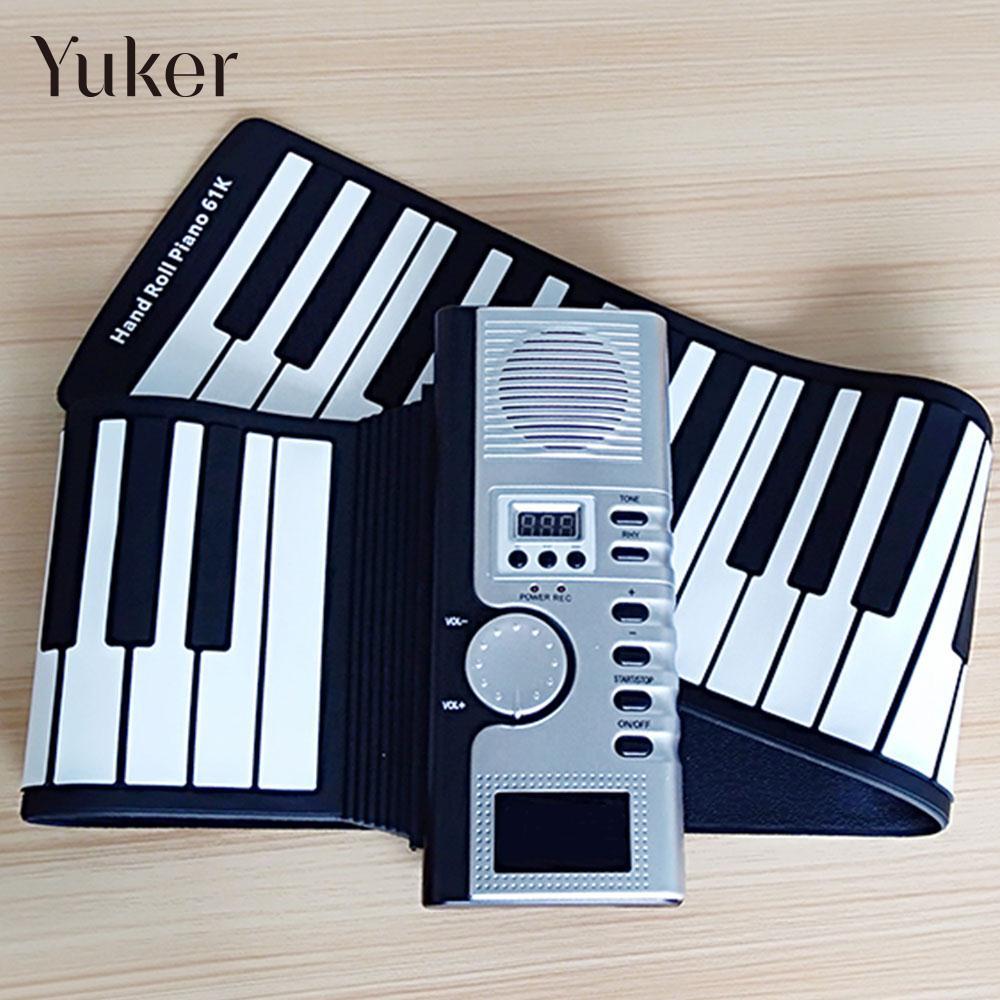 Main Roll Up Piano Flexible avec Haut-Parleur 61 Clé Électronique Clavier Piano 61K2 Adulte Orgue Électronique Musique Clavier