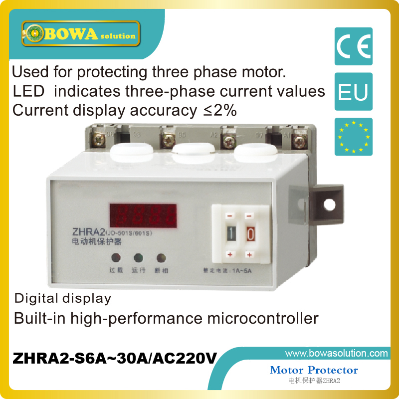 three phase Motor Protector with LED indicates three phase current values against refrigeration compressor korea three and eocr motor protector eocr 3dm ac220