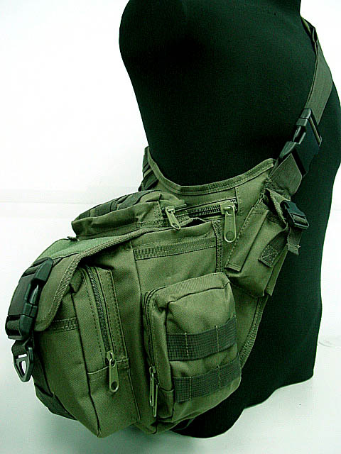 Army Green Utility Waterproof Shoulder Tactical Backpack Spot Bag Camping Travel Outdoor tactical outdoor double shoulder backpack bag army green