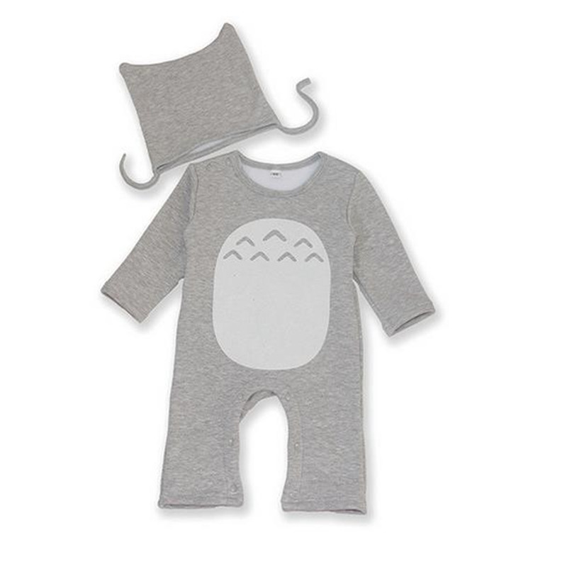 Cotton Baby Rompers Totoro Boy Clothes Hat