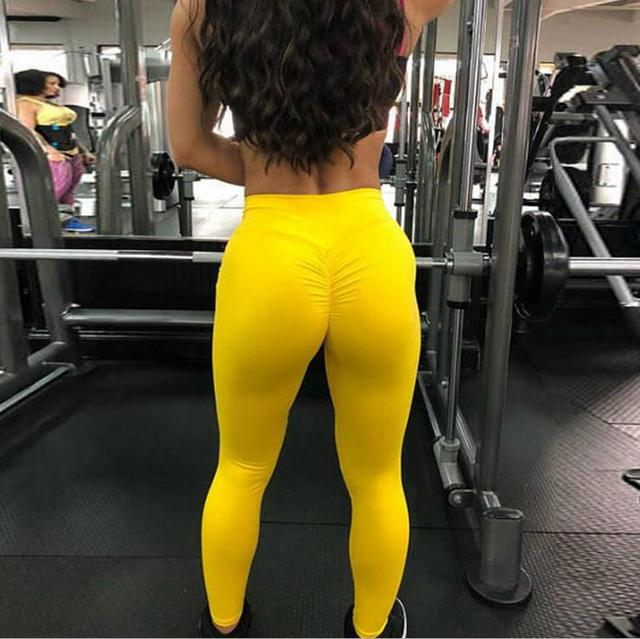 New High Waist Leggings Women Fitness Clothes 2019 Slim Ruched Bodybuilding Women's Pants Athleisure Female Sexy Leggings