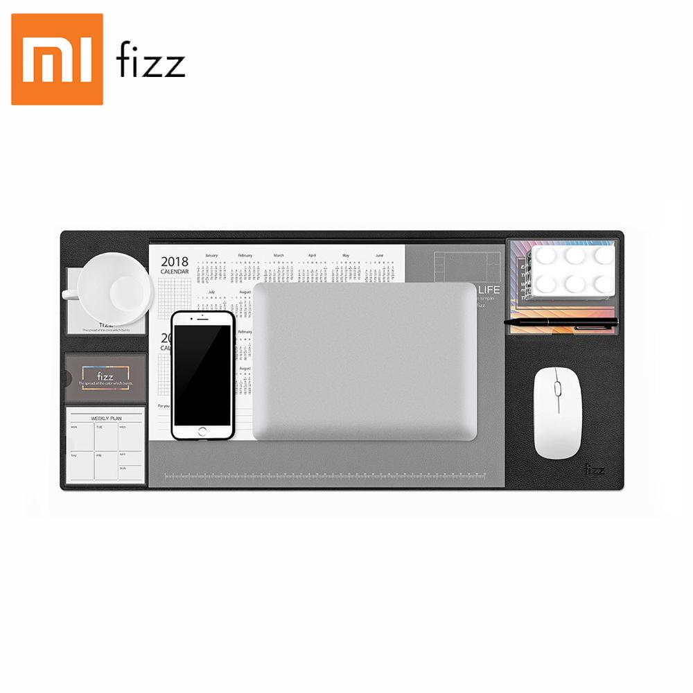 Xiaomi Fizz Leather Computer Desk Mat Office Waterproof Large Mouse Pad Documents, Notes, Business Card Partitioning Storage