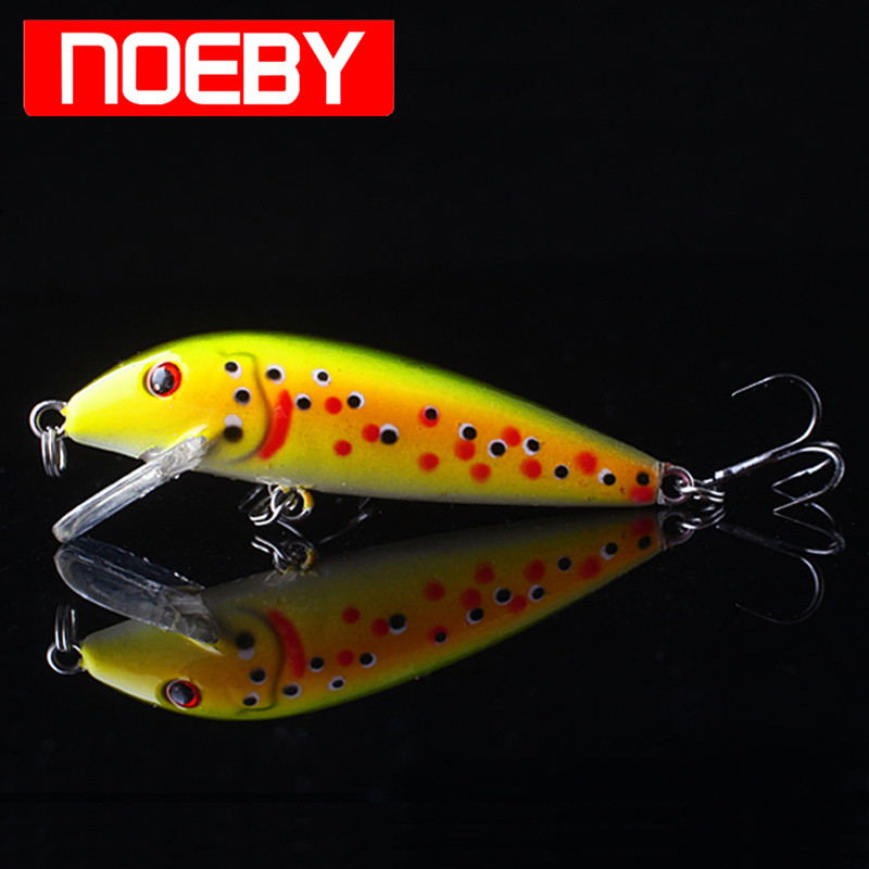 2017 NOEBY NBL9429 Fishing Plastic Lure 50mm/3.3g Minnow Floating0-1.0m Isca Pesca Leurre Peche Mer Souple Hard Bait Wlure
