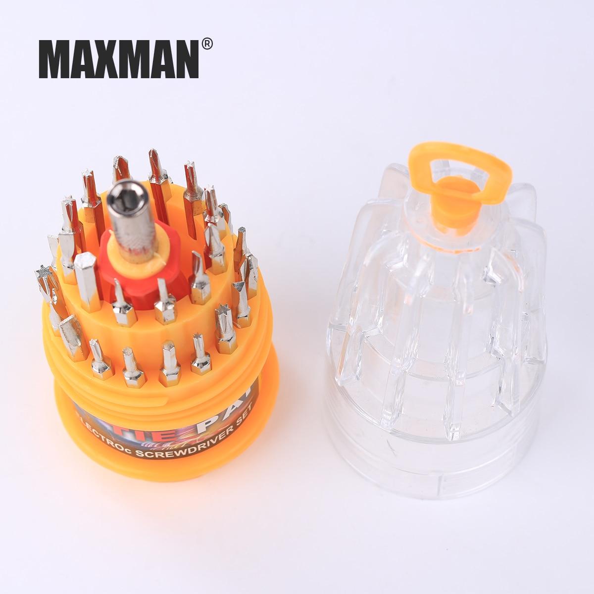 MAXMAN 31pcs DIY Repair Laptop Screwdriver Set Professional Repair Hand Tools Kit for Mobile Phone Computer Electronic Model