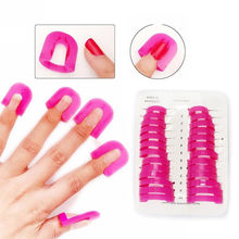 26 Pcs/pack Nail Art Gel Model Klip Manicure Nail Ujung Lem Overflow Mencegah Alat Portabel Nail Polish Lem DIY Peralatan(China)