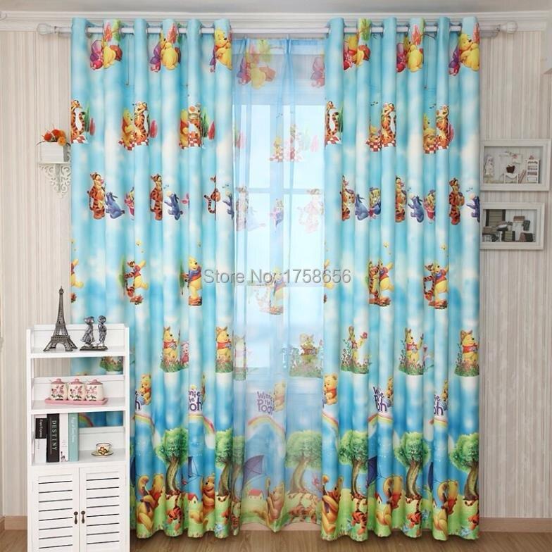 adb616742e3c Home window decoration cartoon Children s curtains Winnie the Pooh curtain  boy s bedroom curtains for window