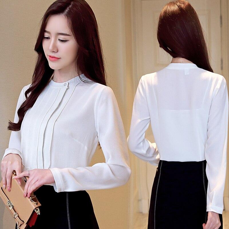 Moda Empalme Elegante Profesional Gasa Salvajes Y blanco Blusa Camisa Blanco De 2264 Tops 2019 Collar Mujeres Gris Mujer 50 4pwq4YBr