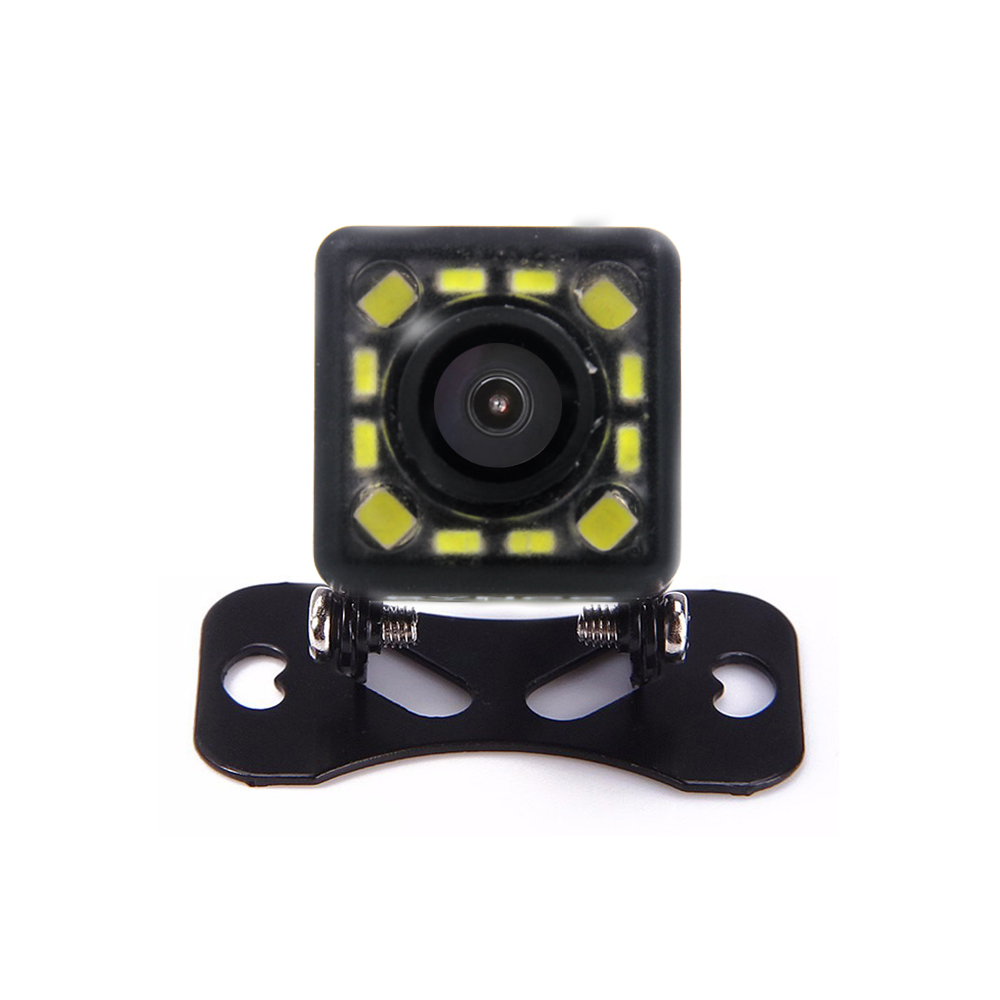 Free Shipping Waterproof 12 LED Night Vision Car CCD Rear View Camera Reverse Camera With 3 Glass Lens For Auto Parking Monitor ccd car reverse camera for ssangyong rexton kyron backup rear review reversing parking kit waterproof nightvision free shipping