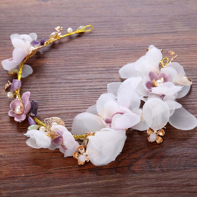 Шелковый цветок в прическу невесты красивое свадебное платье невесты свадебное Женские аксессуары для волос розовый цветок ювелирные изделия SL