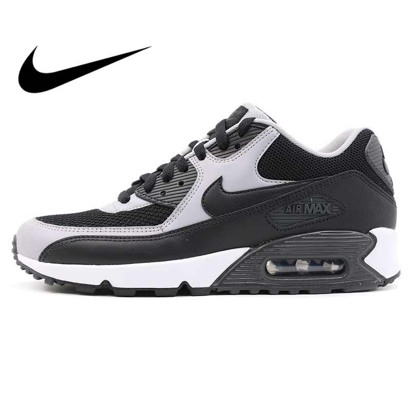 buy popular 9ad2a 5932e Original Authentic 2018 NIKE AIR MAX 90 ESSENTIAL Low Top Rubber Men s  Running Shoes Sneakers Breathable