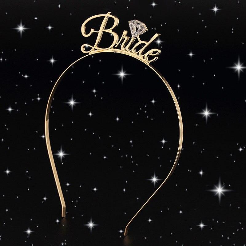 Bride To Be Bridesmaid Tiara Crown Hair Jewelry Headband Bachelorette Hen Party Wedding Bridal Shower Decoration Girl Night Gift