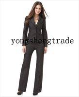 Новое поступление, черные женские костюмы на заказ, женский костюм, Модный женский костюм 602