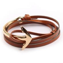 Bend tom hope anchor hooks half bracelets arrival bracelet pu gift