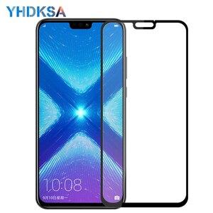 Image 1 - Verre de protection 9D pour Huawei Honor 8X 9i 10i 20i V20 V10 V9 Play 8C 8A Note 10 Magic 2 Film de protection décran en verre trempé