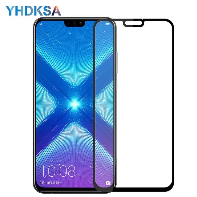 Verre de protection 9D pour Huawei Honor 8X 9i 10i 20i V20 V10 V9 Play 8C 8A Note 10 Magic 2 Film de protection décran en verre trempé