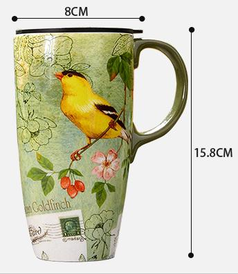 2018 new arrival fashion school style high quality mugs coffe water cup sent girl friend creative gifts wirh lid