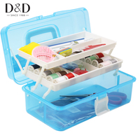 D D Portable Sewing Kits Multi Function Sewing Box Needle Threads Scissors Sewing Tools Accessories