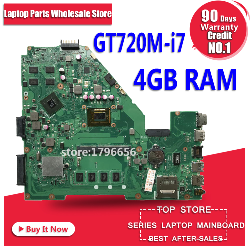 GT720M i7 CPU 4GB RAM X550CC motherboard REV 2.0 For ASUS X550C X552C X550CC X550CL Y581C Laptop motherboard X550CC mainboard x550cc with 2117 cpu gt720m 2gb n14m ge s a2 mainboard for asus x550c x550cc y581c laptop motherboard 100