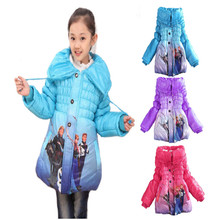 Free shipping Children's Kids Korean fashion coats jacket Girls' winter cute hoodies coat Cotton padded clothes 3colors