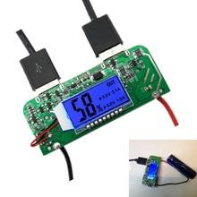 Dual USB 5 В 2.1a 1A мобильный Запасные Аккумуляторы для телефонов Зарядное устройство печатной платы Boost Step Up модуль LED Экран Дисплей для 18650 батарея DIY