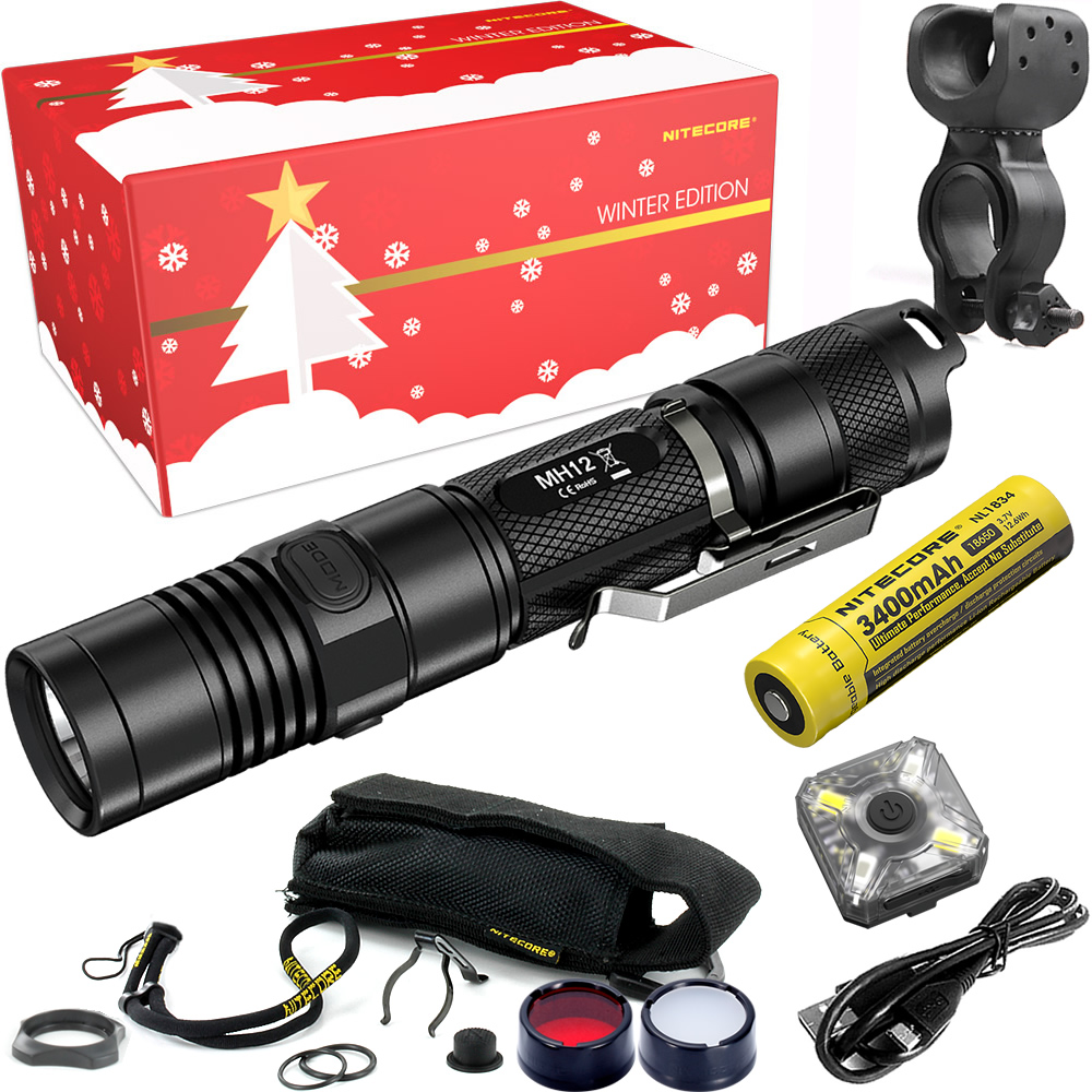 Free Shipping 2018 NITECORE MH12 Riding Holiday Gift Set 1000 Lumens USB Rechargeable Flashlight Outdoor Bicycle Portable Torchs 2017 nitecore riding holiday gift set mh12 1000lms usb rechargeable flashlight for outdoor bicycle portable torchs free shipping