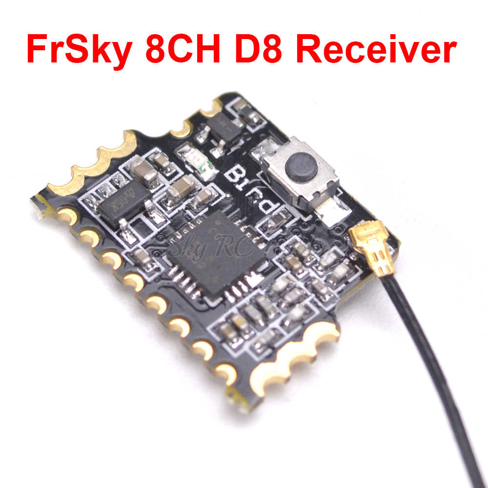Mini 2 4G 8CH D8 FrSky Compatible Receiver With PWM PPM SBUS Output  Compatible with Frsky X9D (Plus) DJT DFT DHT