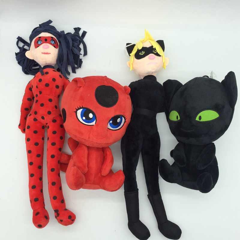 1pcs Miraculous Ladybug Cat Stuffed Plush Dolls font b Toy b font For Kids Christmas Gifts