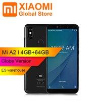 Global Version Xiaomi Mi A2 Phone Snapdragon 660 Octa Core4GB 64GB 5.99 18:9 Full Screen 20.0MP+12.0MP Dual Camera Smartphone