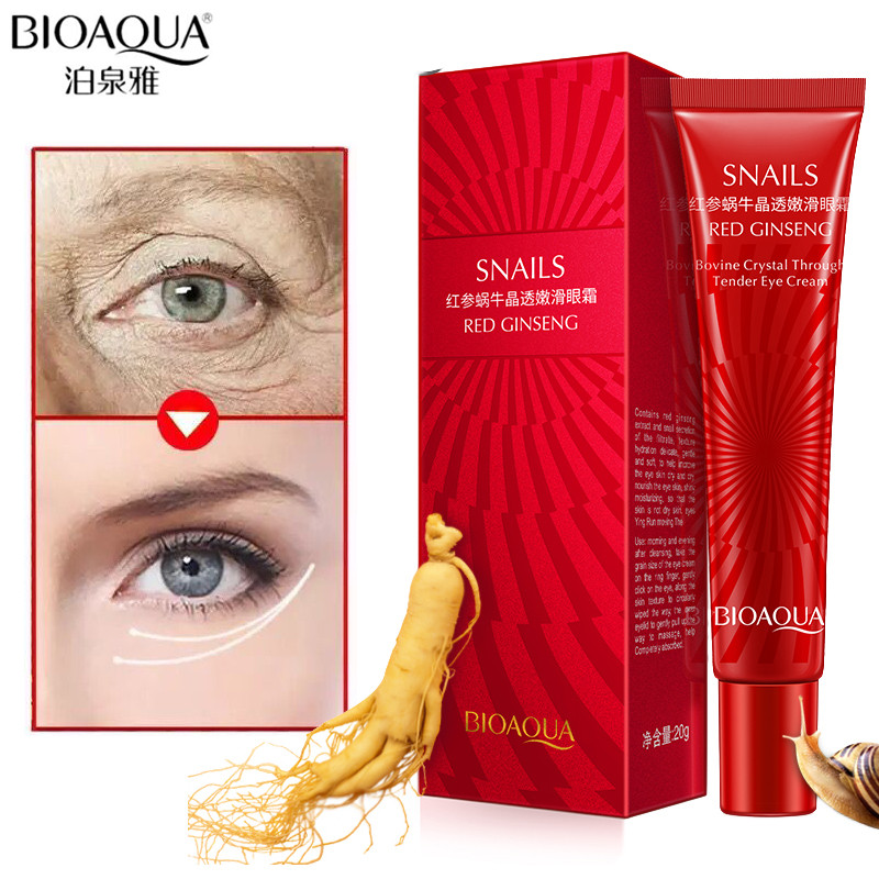 BIOAQUA Anti Wrinkle Anti Aging Eye Cream Ageless Effectively Remove Dark Circles Puffiness Repair Eye Lifting Moisturizer Cream 6