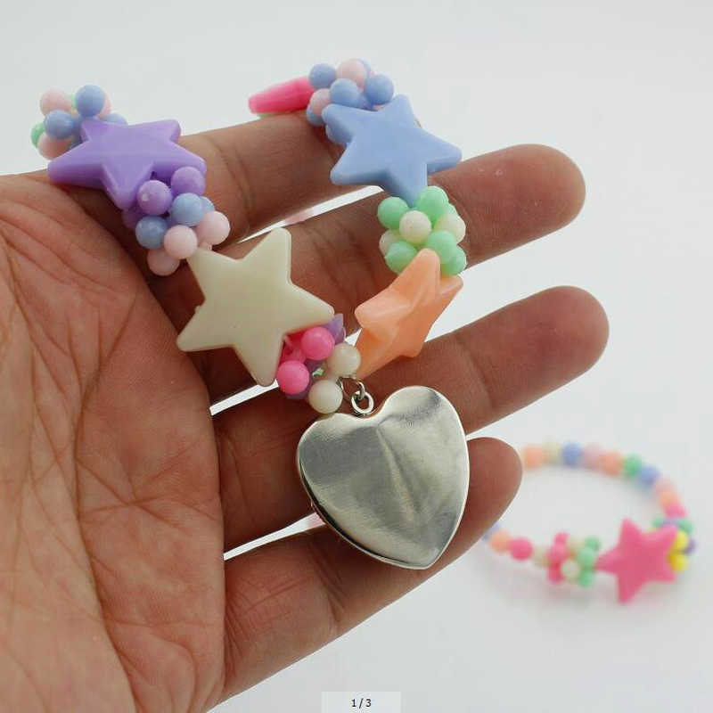 HZShinling Новое поступление мерцающий и блестящий Сердце ожерелье Аниме Ожерелье Подвеска с художественным изображением ювелирные изделия для детей подарок для девочек