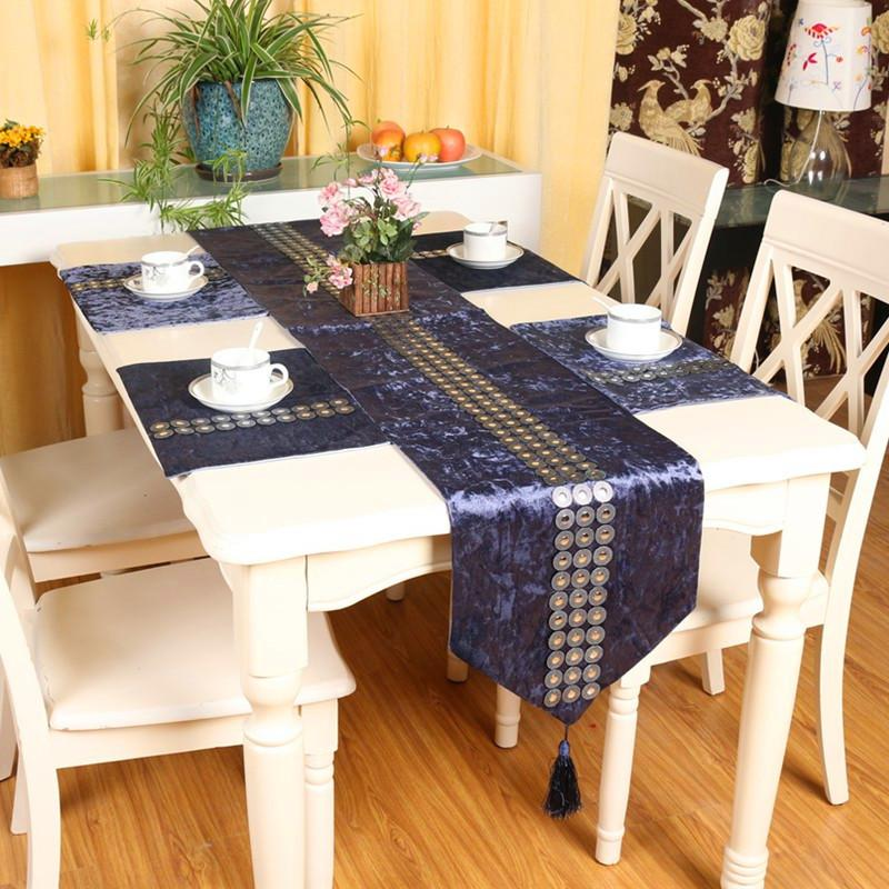 Aliexpress.com : Buy Fashion Europe Style Luxury Velvet Rhinestone Simple Table  Runner 32x200cm Table Cloth Wedding Decor Placemat 28*40cm Decor From ...