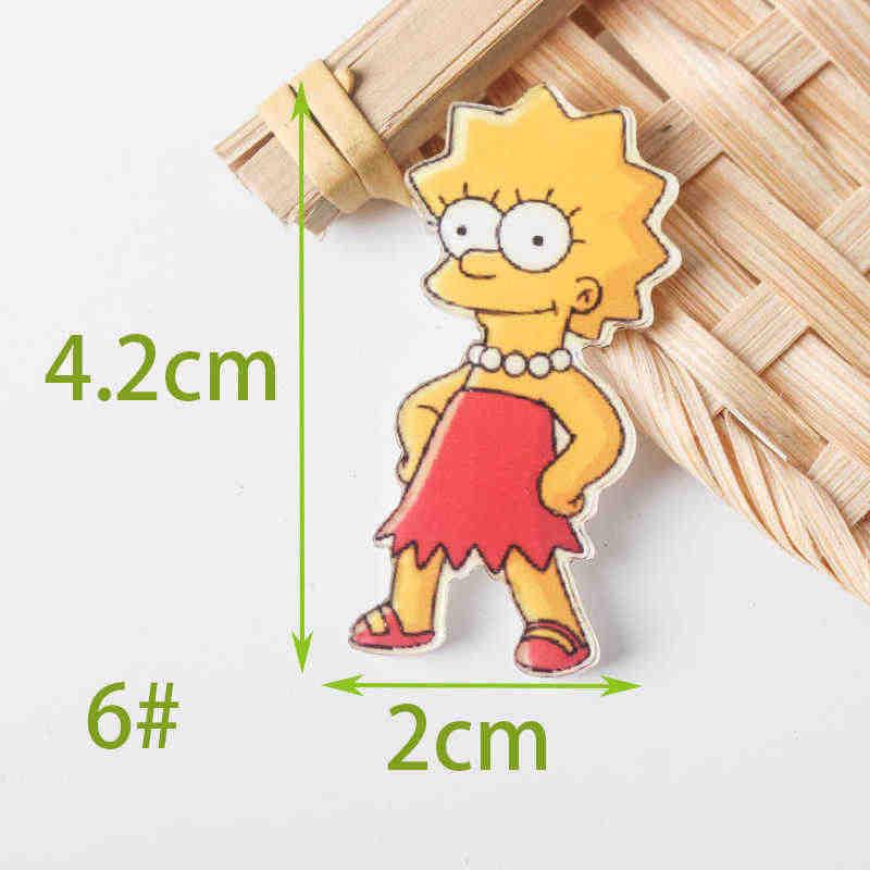 Icônes en broche de mélange les Simpsons, 1 pièce, sur le sac à dos, Badges en acrylique, broche en dessin animé pour vêtements, Badge de décoration Z77