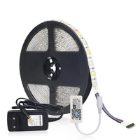 LED Strip Light 5050 RGBW With MINI WIFI Controller And 12V Adapter Power Supply 5M 60LEDs