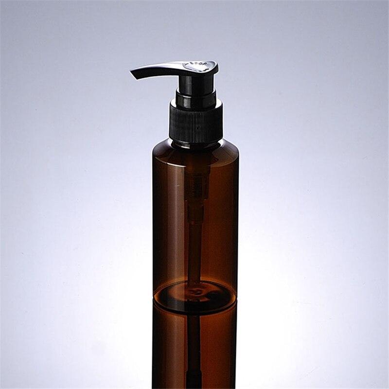 1pcs Lotion bottle 100ml brown slanted shoulder PET black stripes invade mercury Emulsion pressing Storage bottle BQ015-in Storage Bottles & Jars from Home & Garden