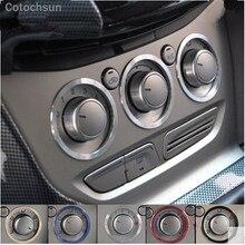 Cotochsun автомобильный Стайлинг Алюминиевый сплав ручки Кондиционера Переключатель ручки украшения кольцо наклейка чехол для Ford Focus 2 Focus 3 Kuga