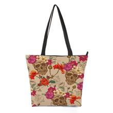 CROWDALEFashion Punk Painting Women Casual Tote Bag Large Crossbody Messenger Bags for Female Bolsa Feminina 44.5*35cm