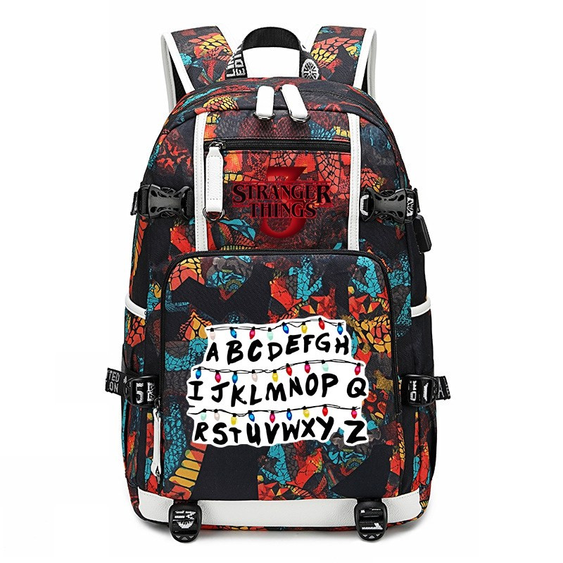 How to Train Your Dragon 3 backpack Usb charging student book Bag teenagers Bag