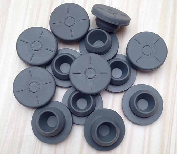 1000pcs 20mm Butyl Rubber Stopper Plug for medical glass bottle Vials brick red rubber stopper for banks with 1 hole