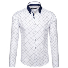 ZOGAA Hot 2019 Spring Men Shirt  Plaid Casual Slim Fit Formal&Business Shirts with High Quality Long Sleeve Dress