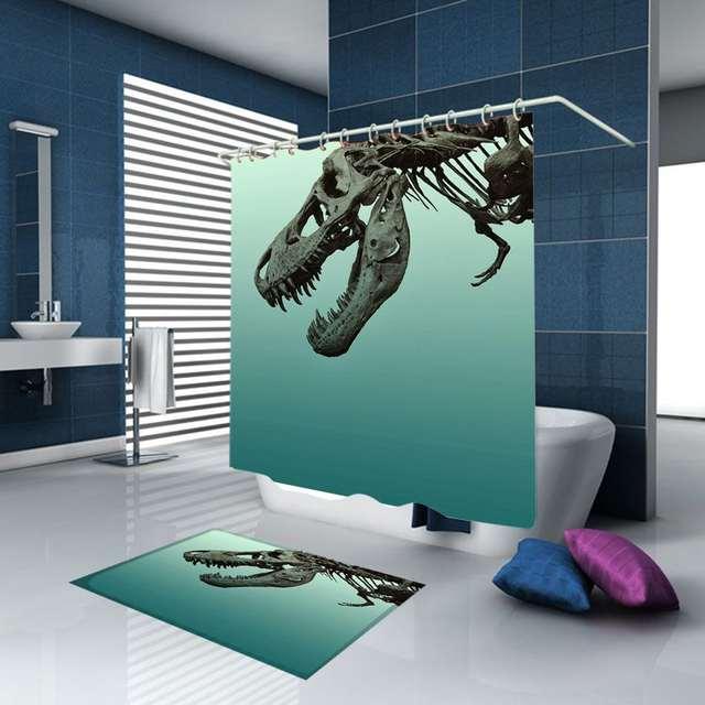 Bath Mats Rugs Vintage Dinosaur