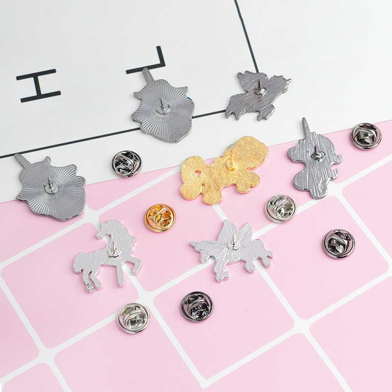 Pins và Trâm Cài Con Thú với MỘT Sừng Pin Phù Hiệu Ve Áo Pin Pin Broch Dễ Thương Kawaii Quà Tặng cho Cô Gái Động Vật Đồ Trang Sức