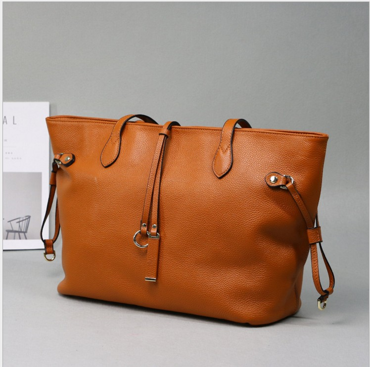 100% Genuine Leather Women's Bags First Layer Of Cowhide Bags Female Designer Shoulder Tote Bag qiaobao 100% genuine leather women s messenger bags first layer of cowhide crossbody bags female designer shoulder tote bag